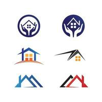 Home logo design, architecture and building, design property, stay at home vector