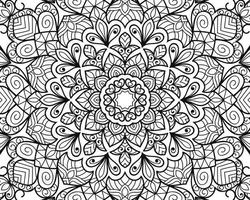 Doodle Mandala Colouring Book Page vector
