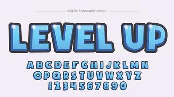 tipografía de dibujos animados 3d azul vector