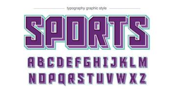 Purple 3D Gaming Squared Typography vector
