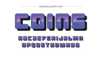 Rounded Purple Chrome Typography vector