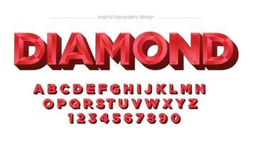 Red 3D Jewel Luxury Typography vector