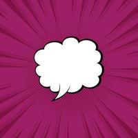 Vector illustration purple speech bubble with pop art style