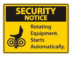 Rotating Equipment Starts Automatically Symbol vector