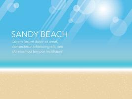 Summer Background Illustration With Sandy Beach And Text Space vector