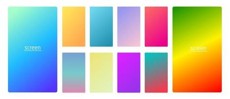 Gradient backgrounds for screen set 5 vector