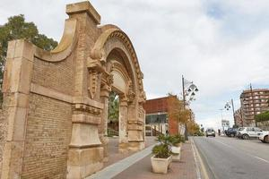 Ancient remains in downtown area of Cartagena in Murcia, Spain photo