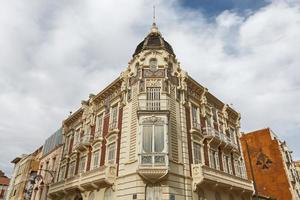 Beautiful old facade of a house in Cartagena in Spain photo