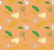 Seamless illustration on the theme of pizza vector