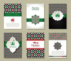 Banners set of islamic. Uae color design. vector