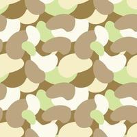Ilustración vectorial de patrones sin fisuras de adorno de camuflaje minimalista dibujado con colores pastel vector