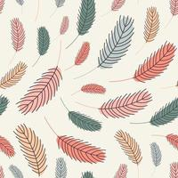 Feathers seamless pattern. Vector illustration