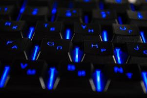 Abstract background of black computer keyboard photo