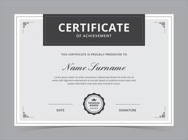 diseño de vector de plantilla de certificado