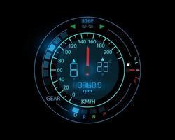 Speedometer car speedometer design technology illustration eps10 vector