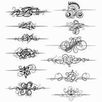 Calligraphic Designs Elements vector