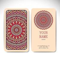 Mandala Busines Cards Design vector
