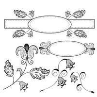 Vintage Floral Designs vector
