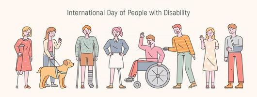 International day of people with disability. flat design style minimal vector illustration.