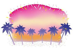 Summer Beach Background At Sunrise Or Sunset With Text Space Isolated On A White Background vector
