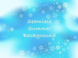 Horizontally And Vertically Repeatable Vector Seamless Abstract Summertime Background With Text Space