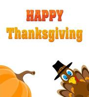 happy thanksgiving stock vector illustration isolated on white background
