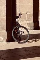 bicycle on the street mode of transportation photo