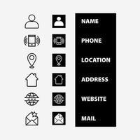 vector de ilustración de conjunto de iconos de contacto