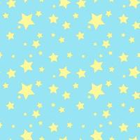 Seamless background with yellow stars on the blue sky vector