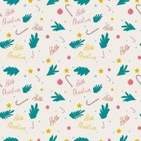 New Years seamless repeating pattern for gift packaging textiles vector
