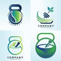 nutrition and healthy food vector icons set
