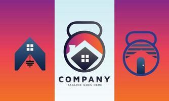 A set of real estate logo design vector