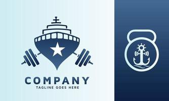 Marine logo design idea in two different icons vector