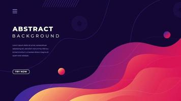 Color gradient background design. Abstract geometric background with liquid shapes. vector