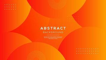 Abstract 3D modern circle layer orange background. Minimalist composition design vector illustration.