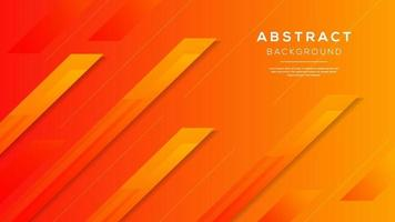 Abstract modern background gradient color. Orange and yellow gradient arrow shape. vector