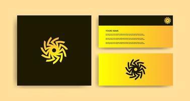 Creative Logo Design With Business Card vector