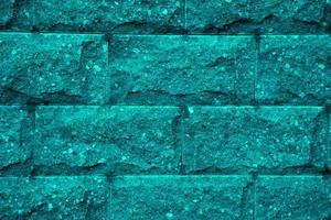 Primer plano de fondo de textura de pared de ladrillo azul foto