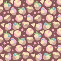 Vector seamless summer pattern, sweet desserts, ice cream. Perfect for wallpaper, surface design, textile, print.