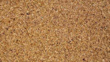 Close-up de fondo de textura de tablero de corcho marrón foto