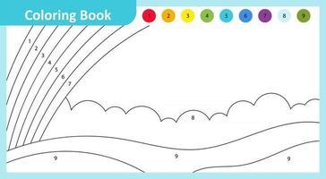 Coloring Book Rainbow vector