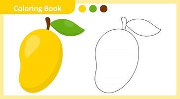 libro para colorear mango vector