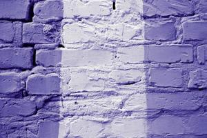 Old multi color brick wall texture background close-up photo