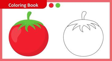 Coloring Book Tomato vector
