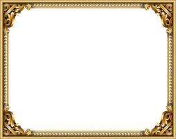 marco dorado clásico del barroco rococó vector