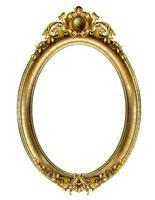 Golden oval classic rococo baroque frame vector