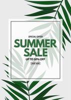 Summer sale poster vector