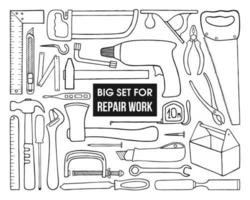 SET FOR REPAIRS AROUND THE HOUSE ON A WHITE BACKGROUND vector