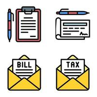Payment documents icon set 2 Payment related vector