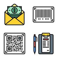 Barcode and QR code icon Payment related vector